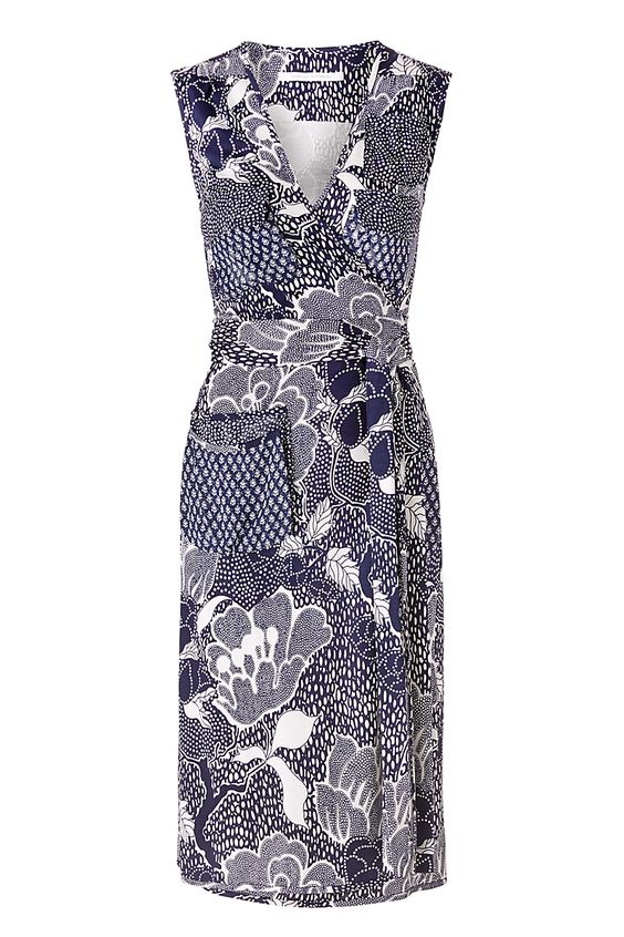 dvf silk jersey wrap dress