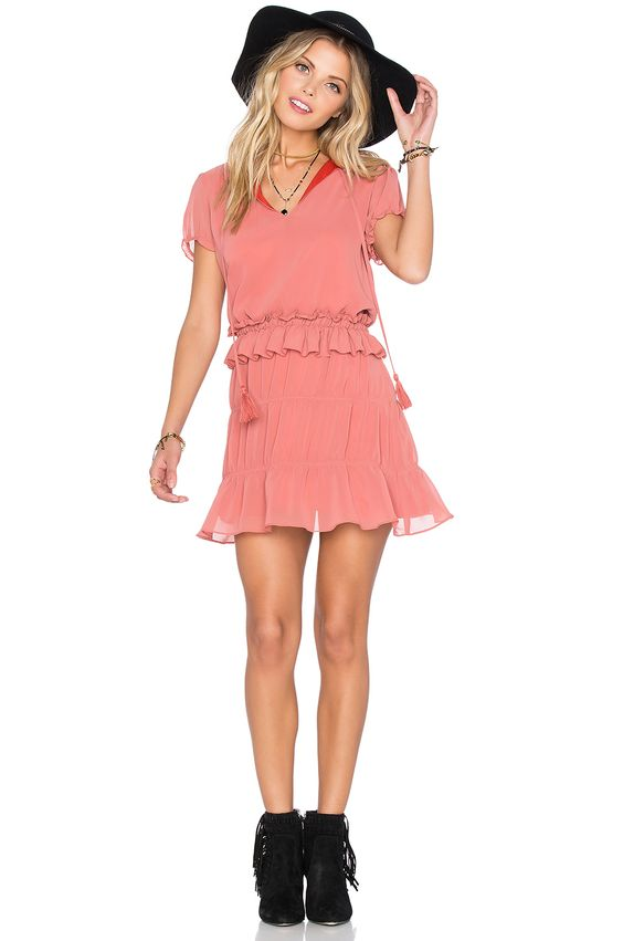 tularosa ruffle dress