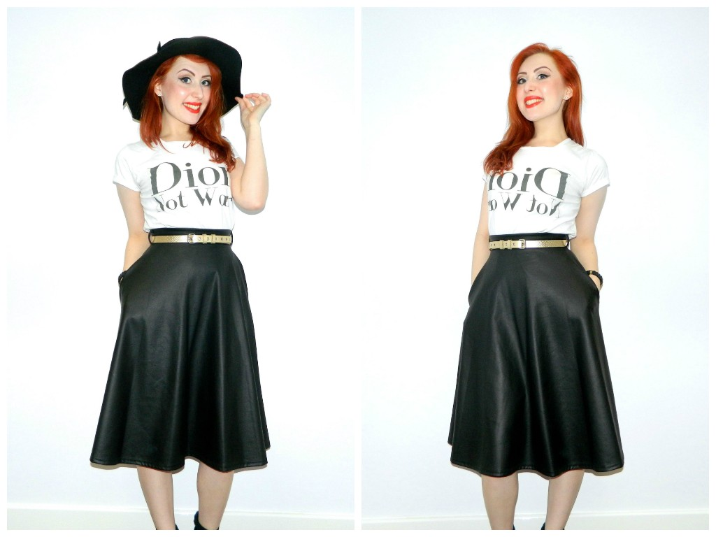 Leather Circle Skirt (and the joys of a big floppy hat)