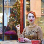 Blogger Twenty-Something City at Pot Kettle Black Manchester talking about December monthly mission