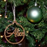 Alice custom Christmas tree bauble giving Christmas