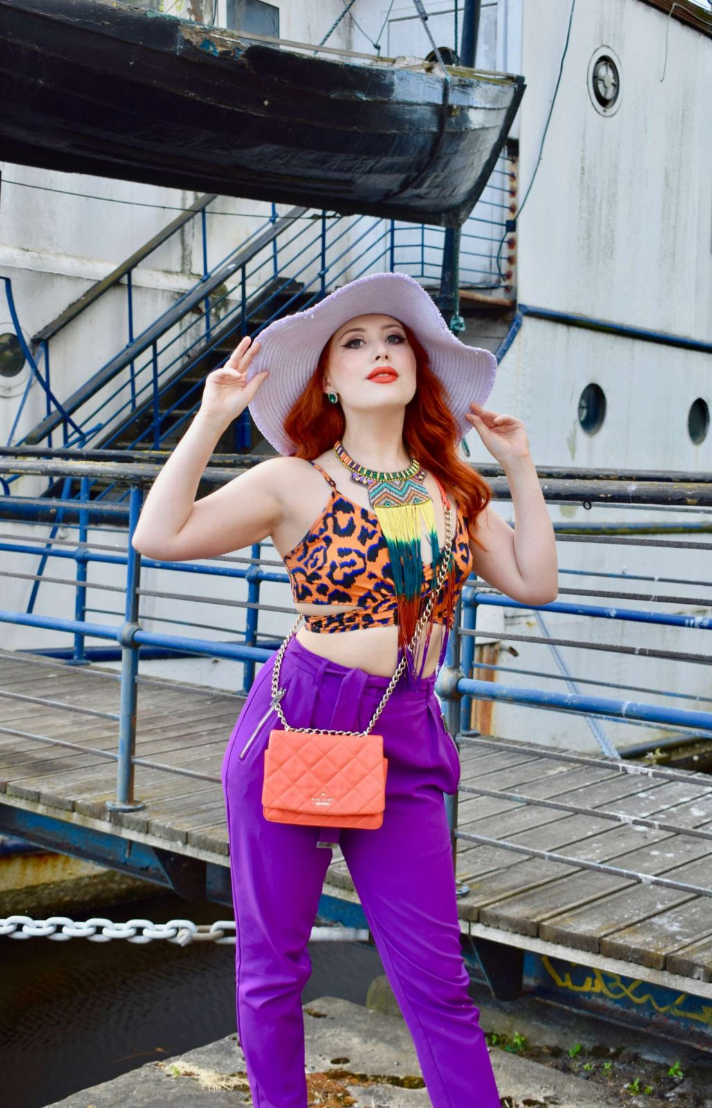 Twenty-Something City colourful summer fashion The Shore Leith