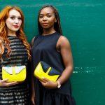 Edinburgh bloggers modelling bright African fashion for Leylesi brand