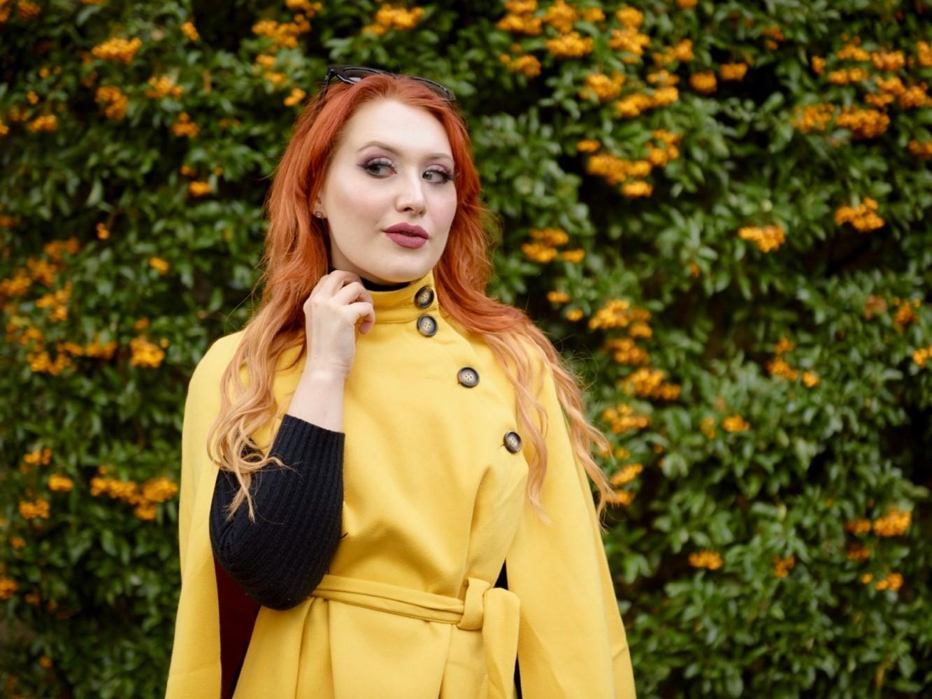 Blogger Twenty-Something City cape coat heritage autumn fashion