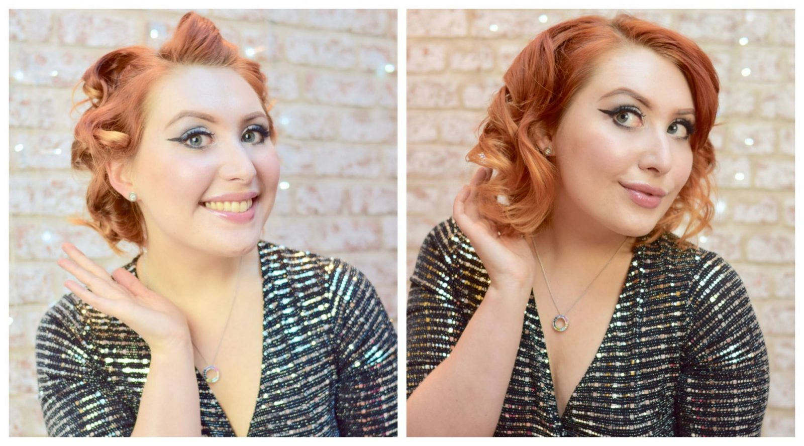 blogger Twenty-Something City pin curls before and after