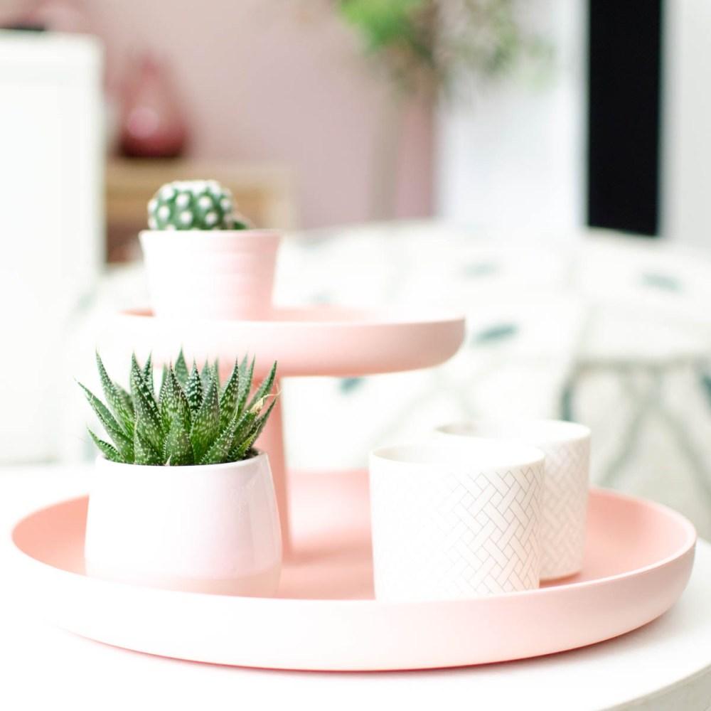 vitra rotary tray roze