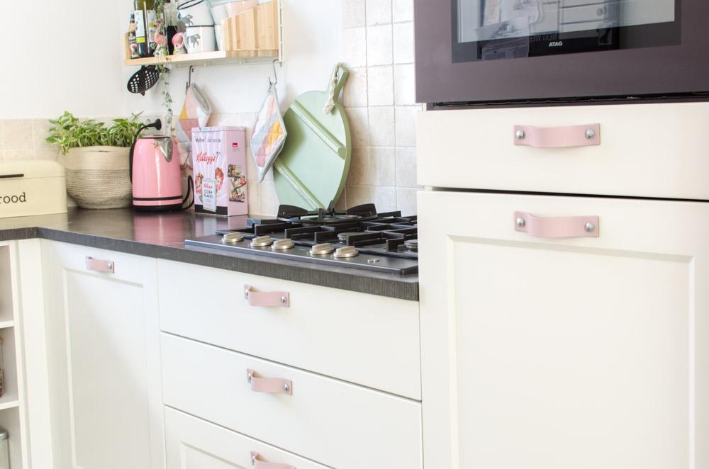 Keuken Make Over : Keuken mini make over met leren handgrepen styled by sabine