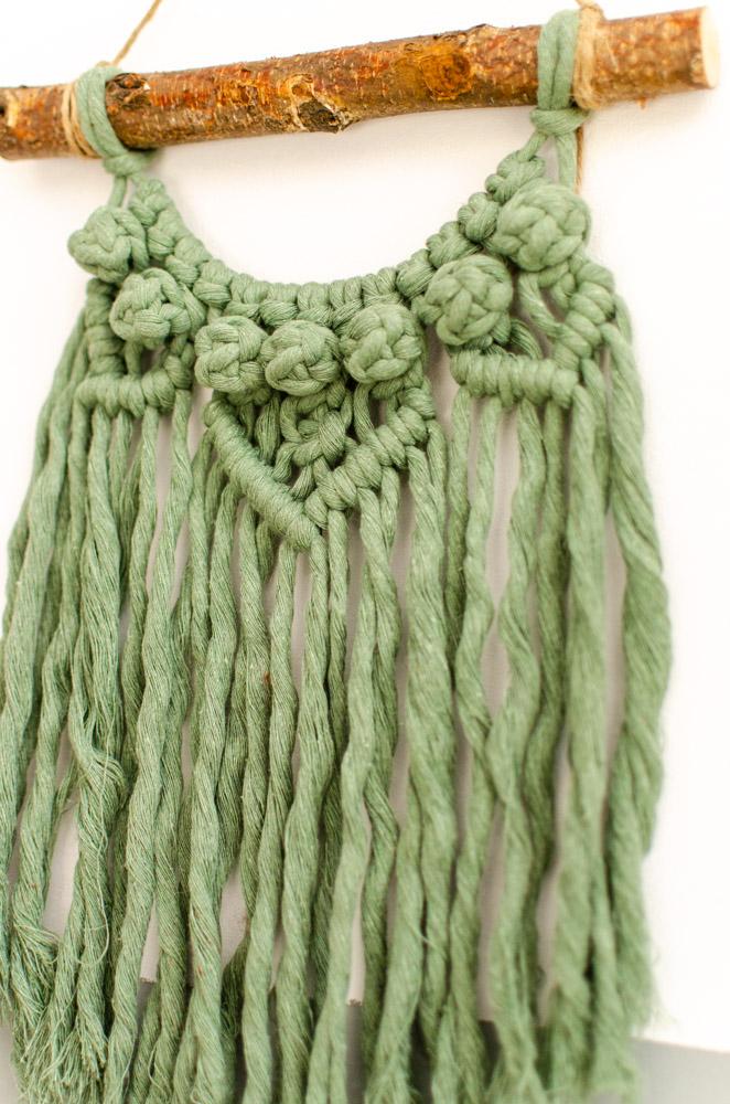 macramé wandhanger groen
