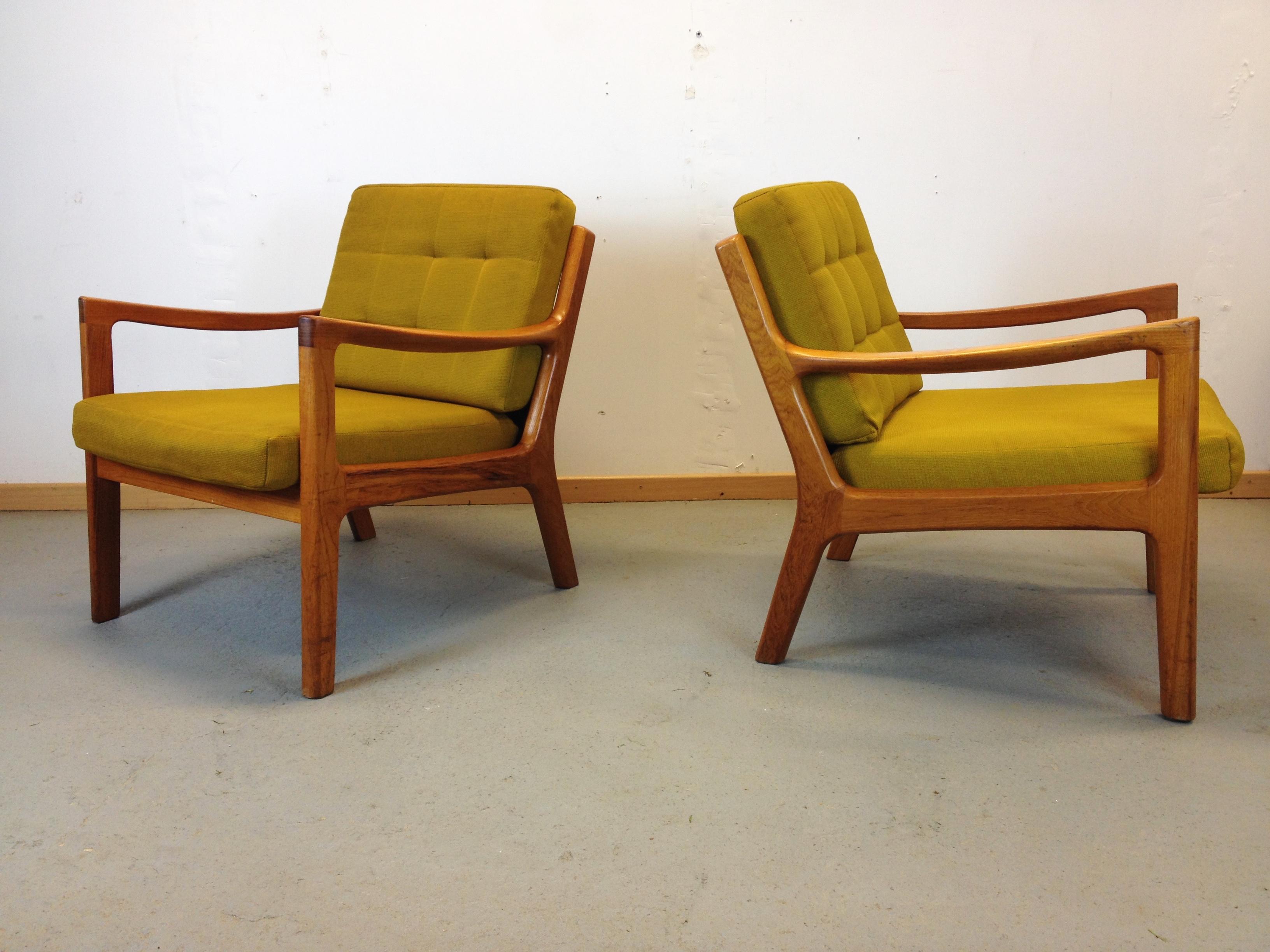 paire fauteuils scandinave annee 60