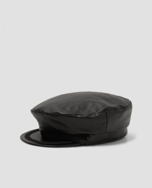 Zara Faux-Leather Baker Boy Cap