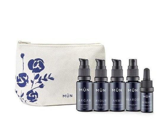 munskin travel set, munskin, skincare travel set, best skincare travel set