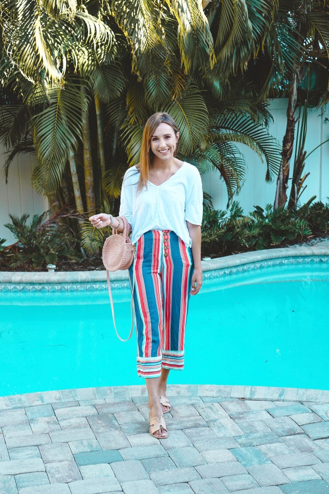 willow clay striped culottes
