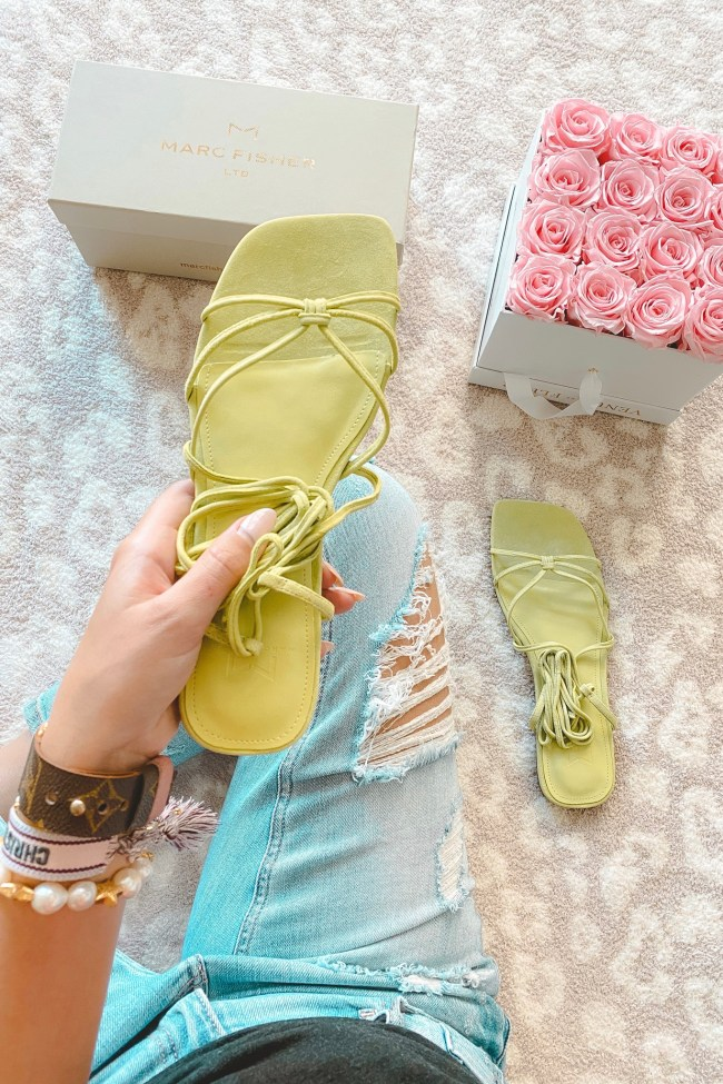 marc fisher marina lace up sandals