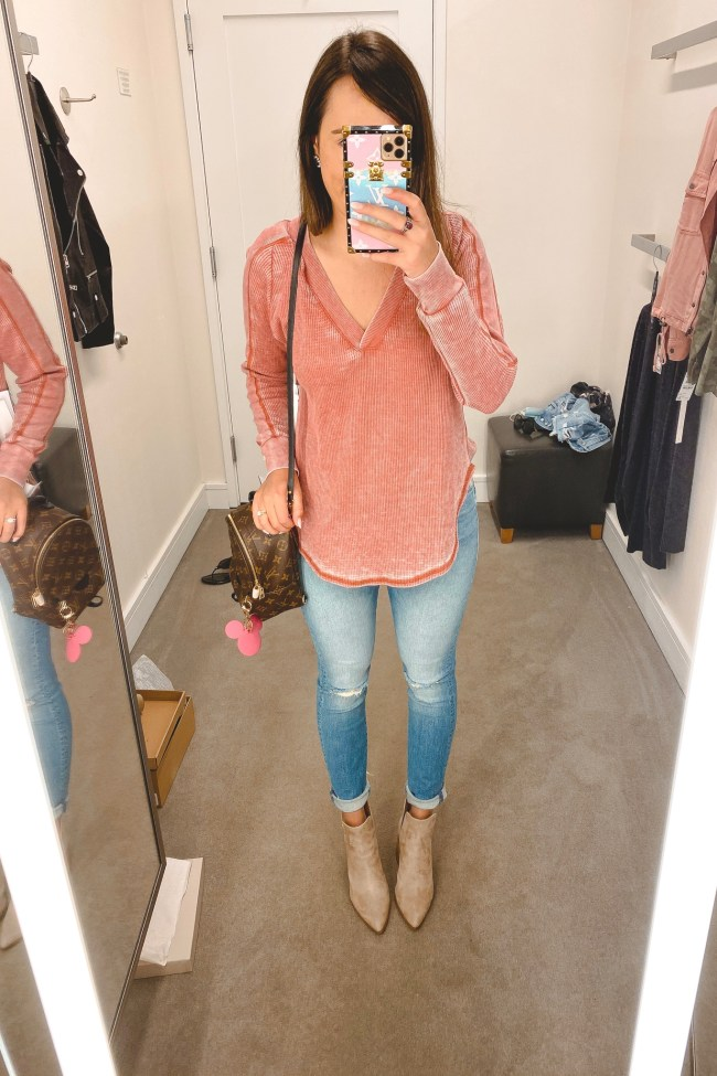 nordstrom anniversary sale 2020 treasure bond thermal with mother jeans