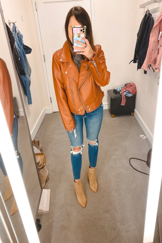 nordstrom anniversary sale 2020 blanknyc faux leather jacket with frame denim