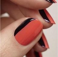 Sideways French Manicure. http://coolnailsart.com