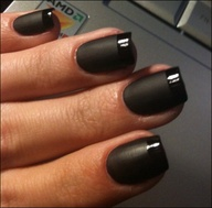 Black French Manicure. www.huffingtonpost.com