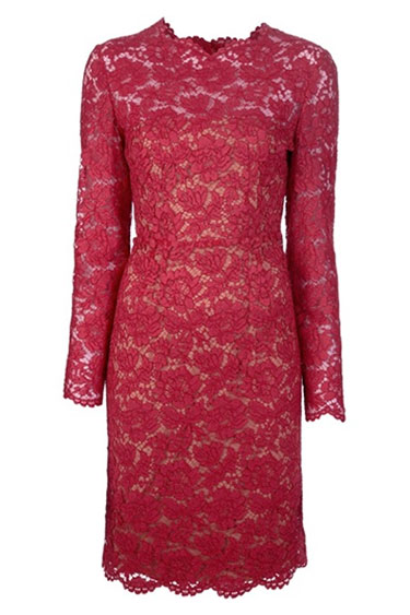 Valentino Red Lace Dress. www.HarpersBazaar.com