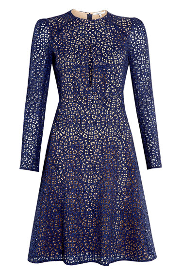 Carven Lace Dress. www.HarpersBazaar.com