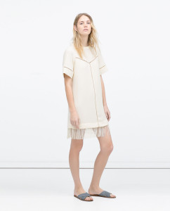Ecru Fringed Dress. http://www.zara.com/us/en/woman/dresses/fringed-dress-c358003p2502056.html