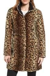 Reversible Faux Leopard Fur Coat $119.00