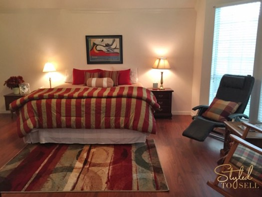 """'Shopping' within the home brought color to a once """"beige-blah"""" room."""