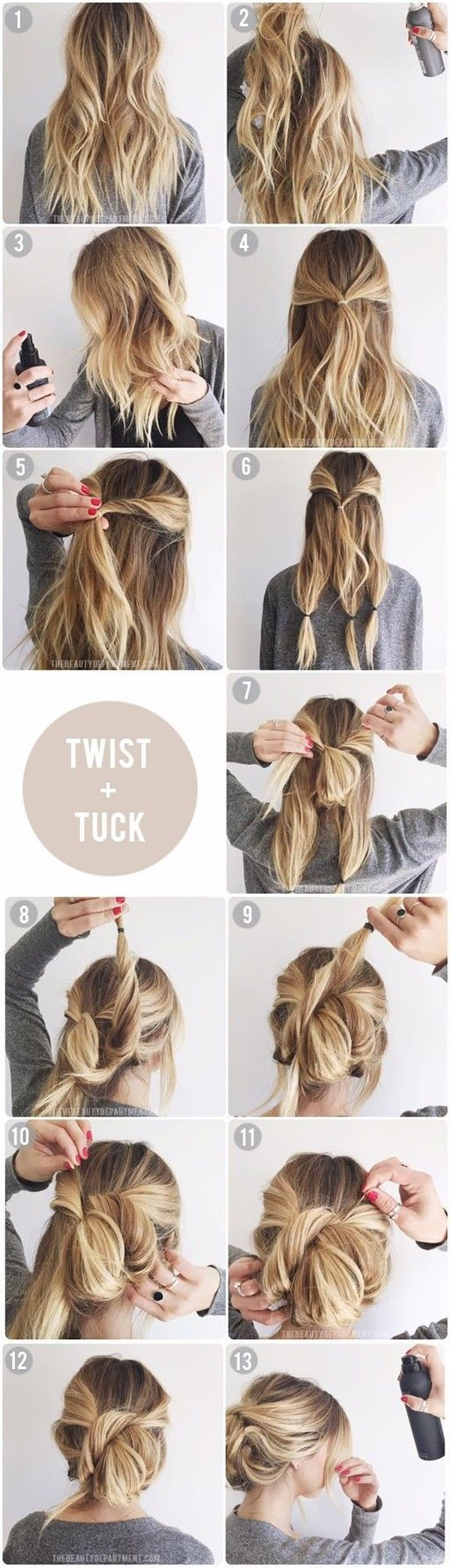 154 easy updos for long hair and how to do them - style easily