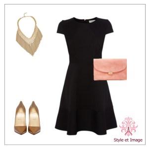 robe noire accessoires