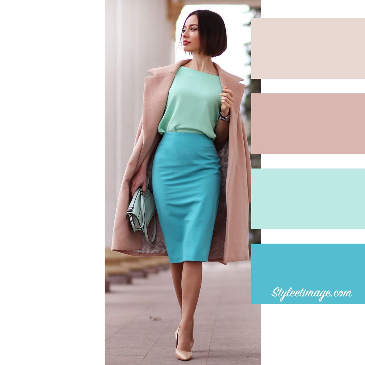 Bleu Et Vert Quel Couleur 15 idées pour associer les couleurs de vos vêtements |