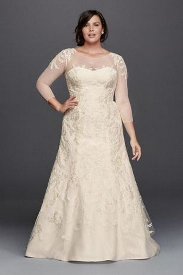 20+ Model of the Brides Dress for Fat Women to Look Stylish Slim 12