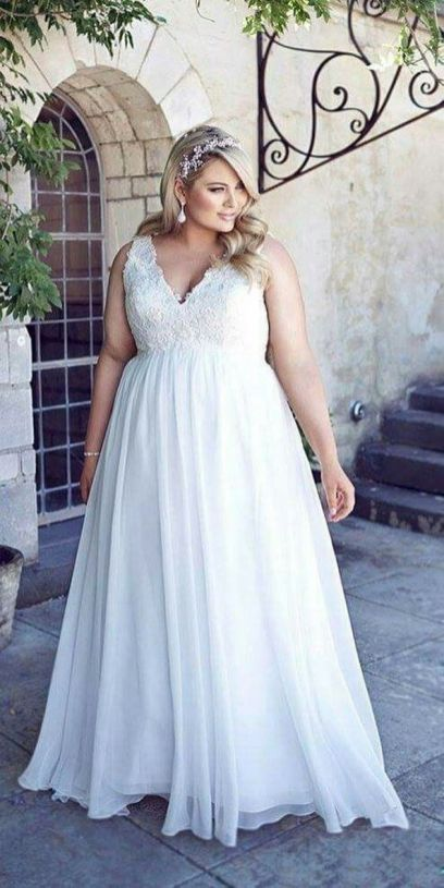 20+ Model of the Brides Dress for Fat Women to Look Stylish Slim 13