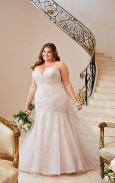 20+ Model of the Brides Dress for Fat Women to Look Stylish Slim 14