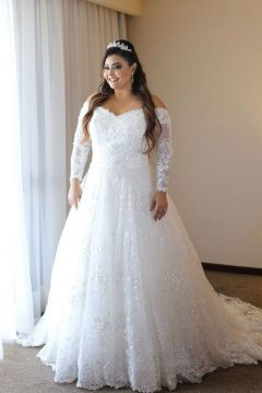 20+ Model of the Brides Dress for Fat Women to Look Stylish Slim 15