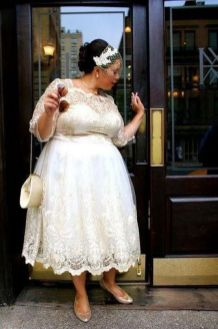 20+ Model of the Brides Dress for Fat Women to Look Stylish Slim 20