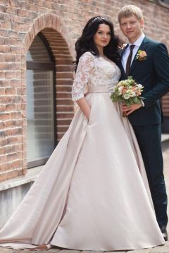 20+ Model of the Brides Dress for Fat Women to Look Stylish Slim 3