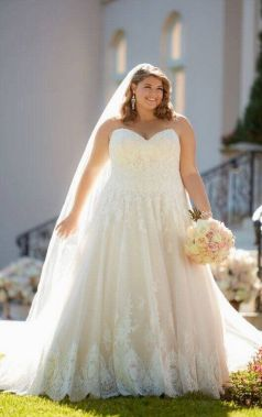 20+ Model of the Brides Dress for Fat Women to Look Stylish Slim 9