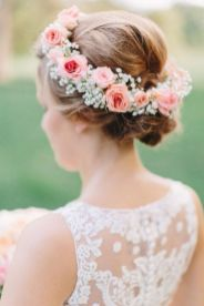 60+Bridal Flower Crowns Perfect for Your Wedding Ideas 28