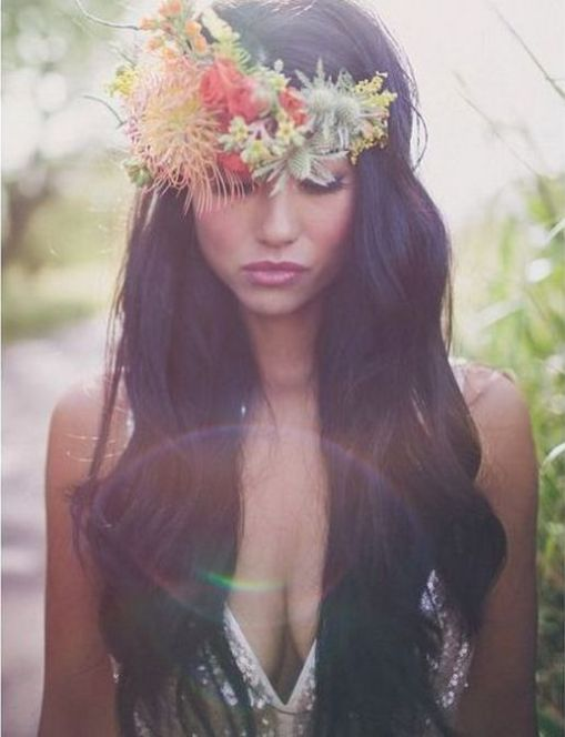 60+Bridal Flower Crowns Perfect for Your Wedding Ideas 51
