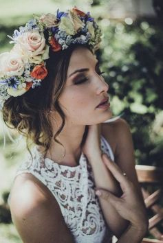 60+Bridal Flower Crowns Perfect for Your Wedding Ideas 60