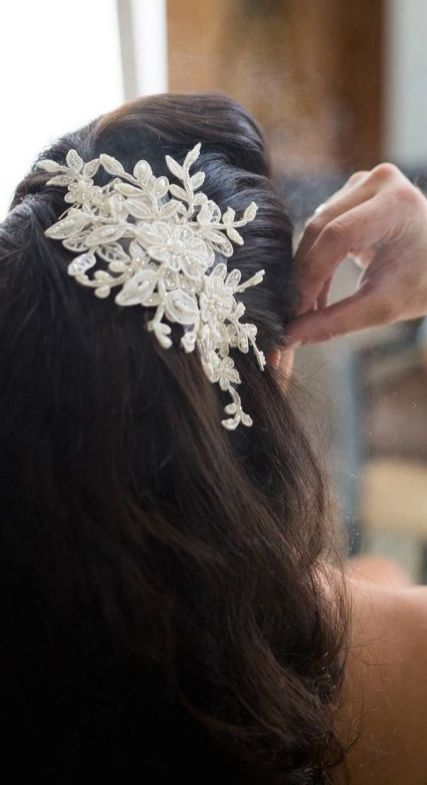 70+ Best Wedding lace headpiece Ideas 11