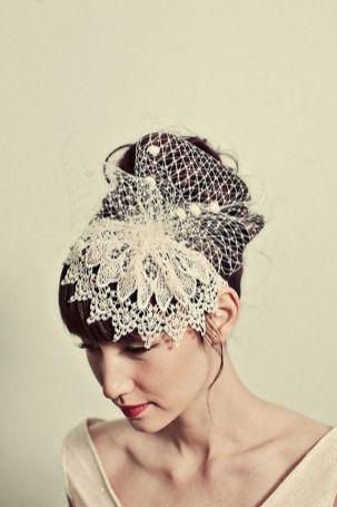 70+ Best Wedding lace headpiece Ideas 12