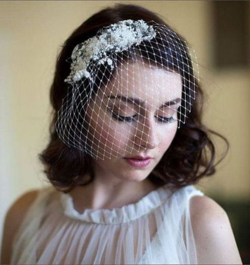 70+ Best Wedding lace headpiece Ideas 16