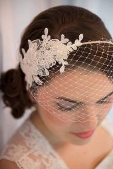 70+ Best Wedding lace headpiece Ideas 18