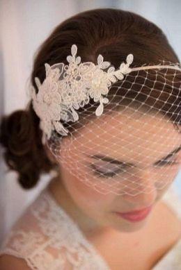 70+ Best Wedding lace headpiece Ideas 18