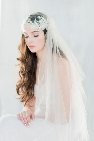 70+ Best Wedding lace headpiece Ideas 24