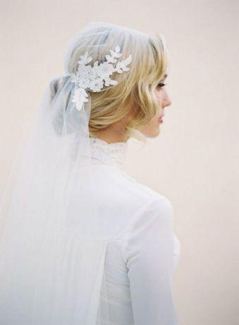 70+ Best Wedding lace headpiece Ideas 25