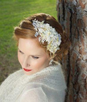 70+ Best Wedding lace headpiece Ideas 31
