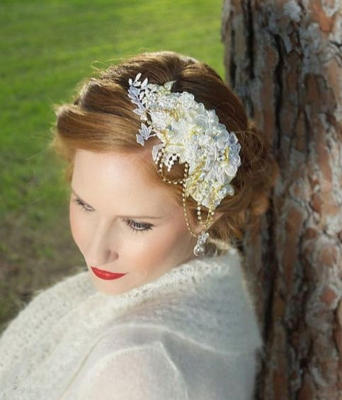 70+ Best Wedding lace headpiece Ideas 31