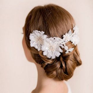 70+ Best Wedding lace headpiece Ideas 40
