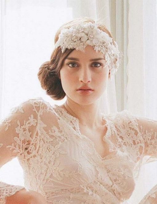 70+ Best Wedding lace headpiece Ideas 50